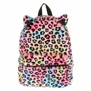 Clairie's Rainbow leopard backpack .
